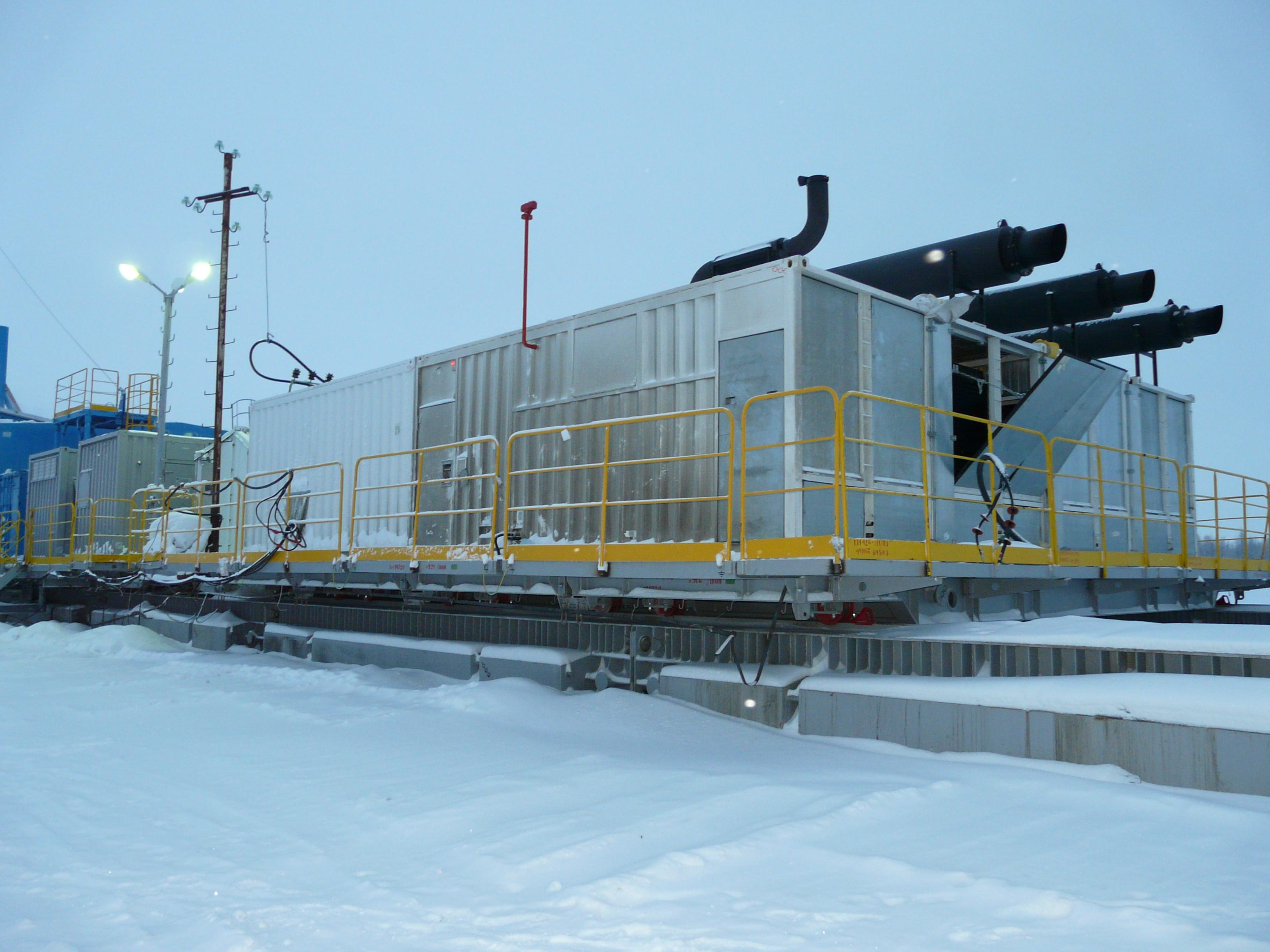 контейнерный энергокомплекс и четырёх ДГУ